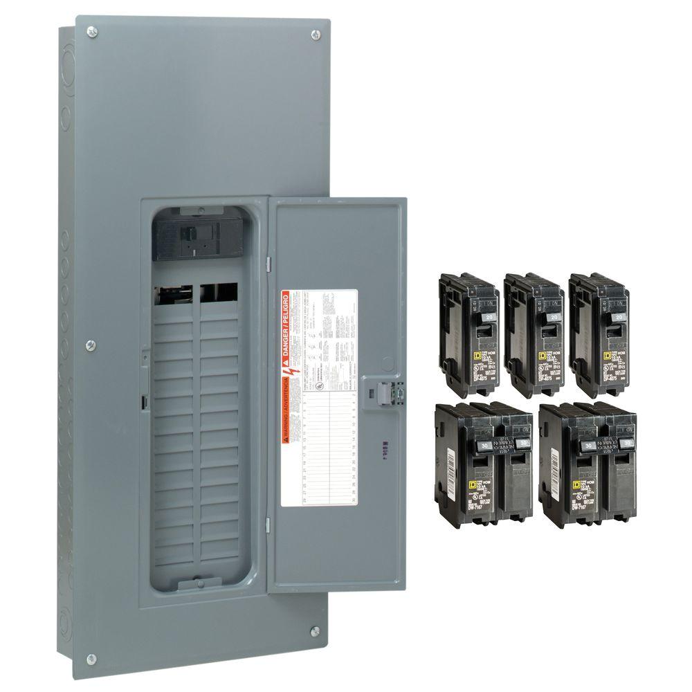square d homeline 200 amp 30 space 60 circuit indoor main breaker plug