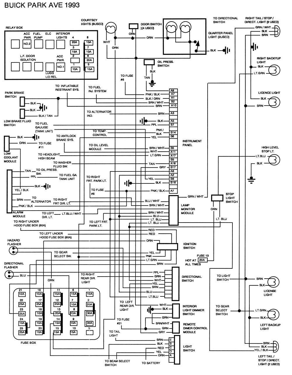 wrg 4500 2001 buick park avenue fuse box diagram moreover 2001 buick lesabre rear suspension diagram furthermore 1999