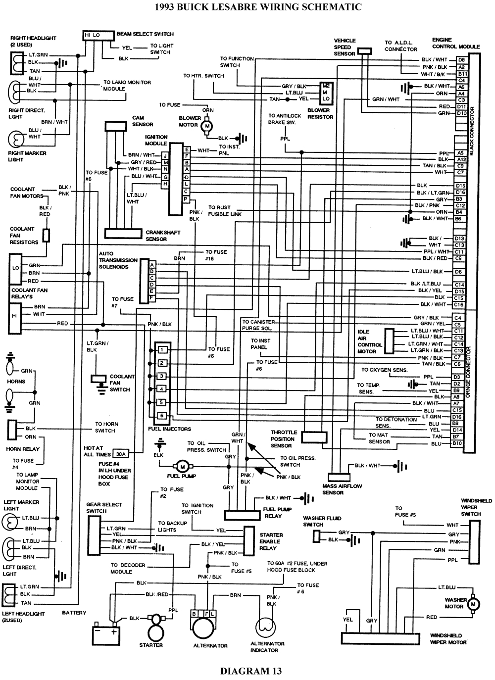 buick lesabre wiring schematic click image to see an enlarged view fig