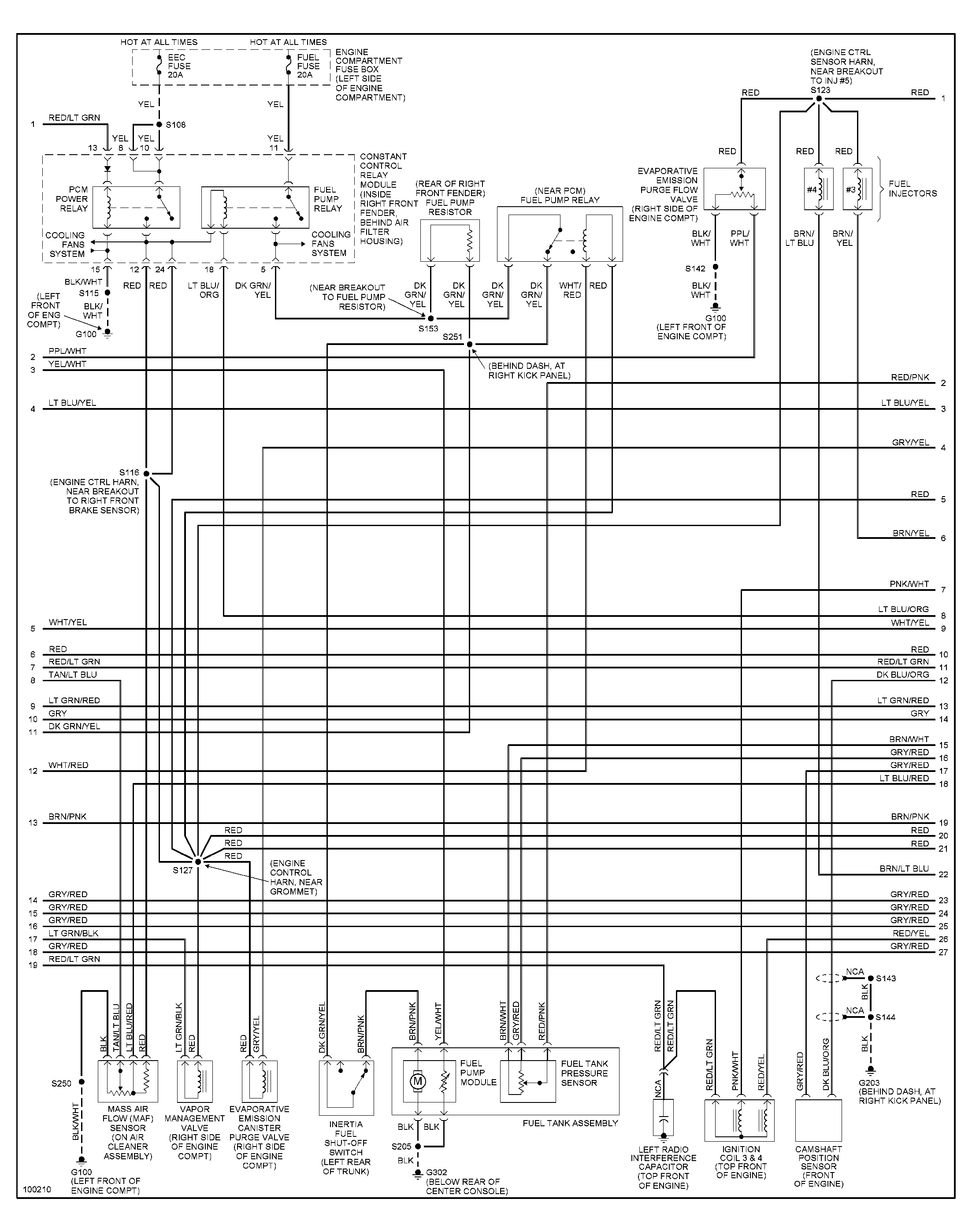 2000 ford Mustang Fuel Pump Wiring Diagram Suspension ford Mustang Fuel Pump Relay Wiring 1965 ford Thunderbird
