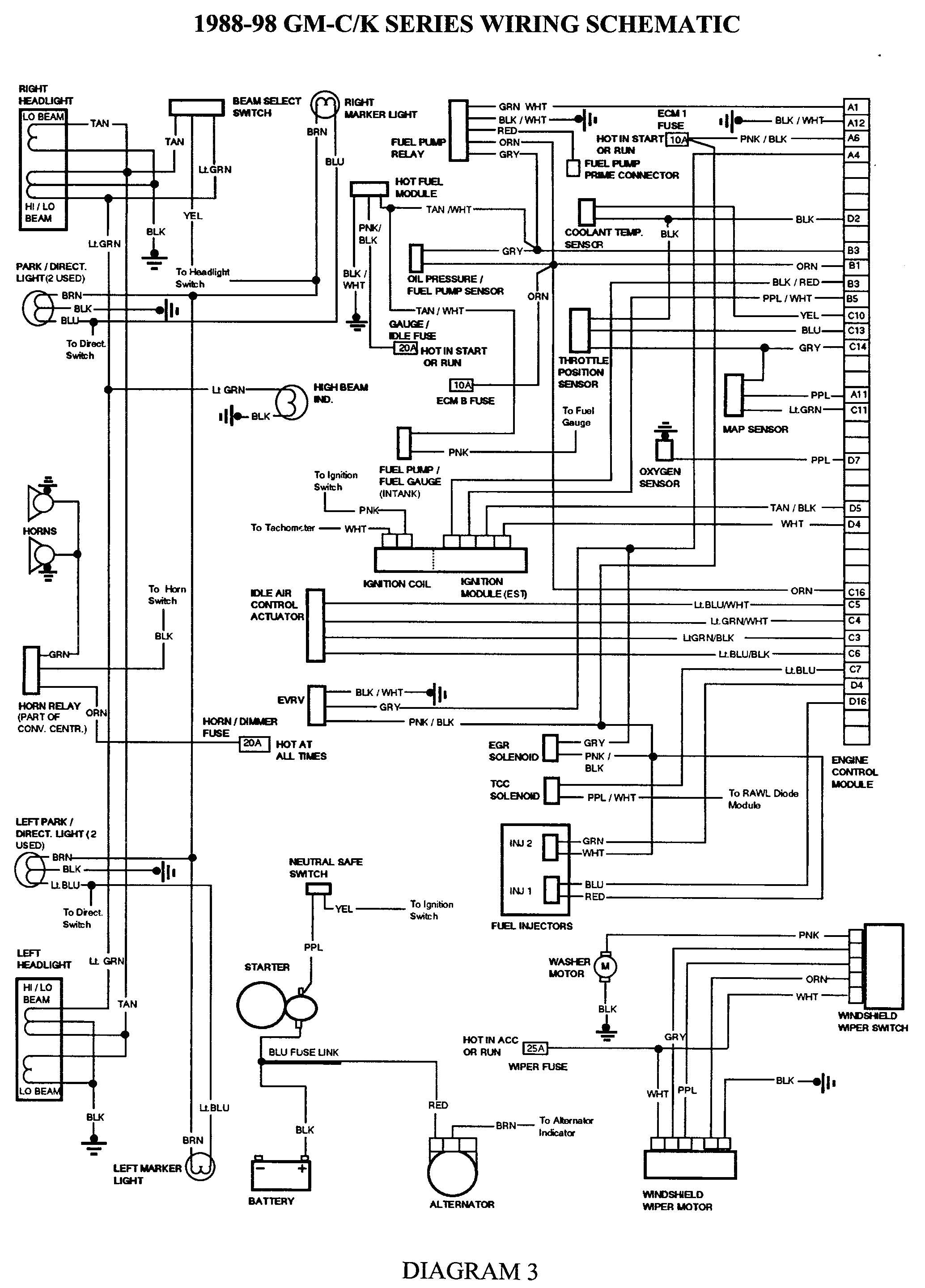 related to 1997 chevrolet pickup truck electrical system wiring 1998 gmc truck electrical wiring diagrams