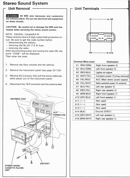 honda pilot 2005 radio wiring diagram