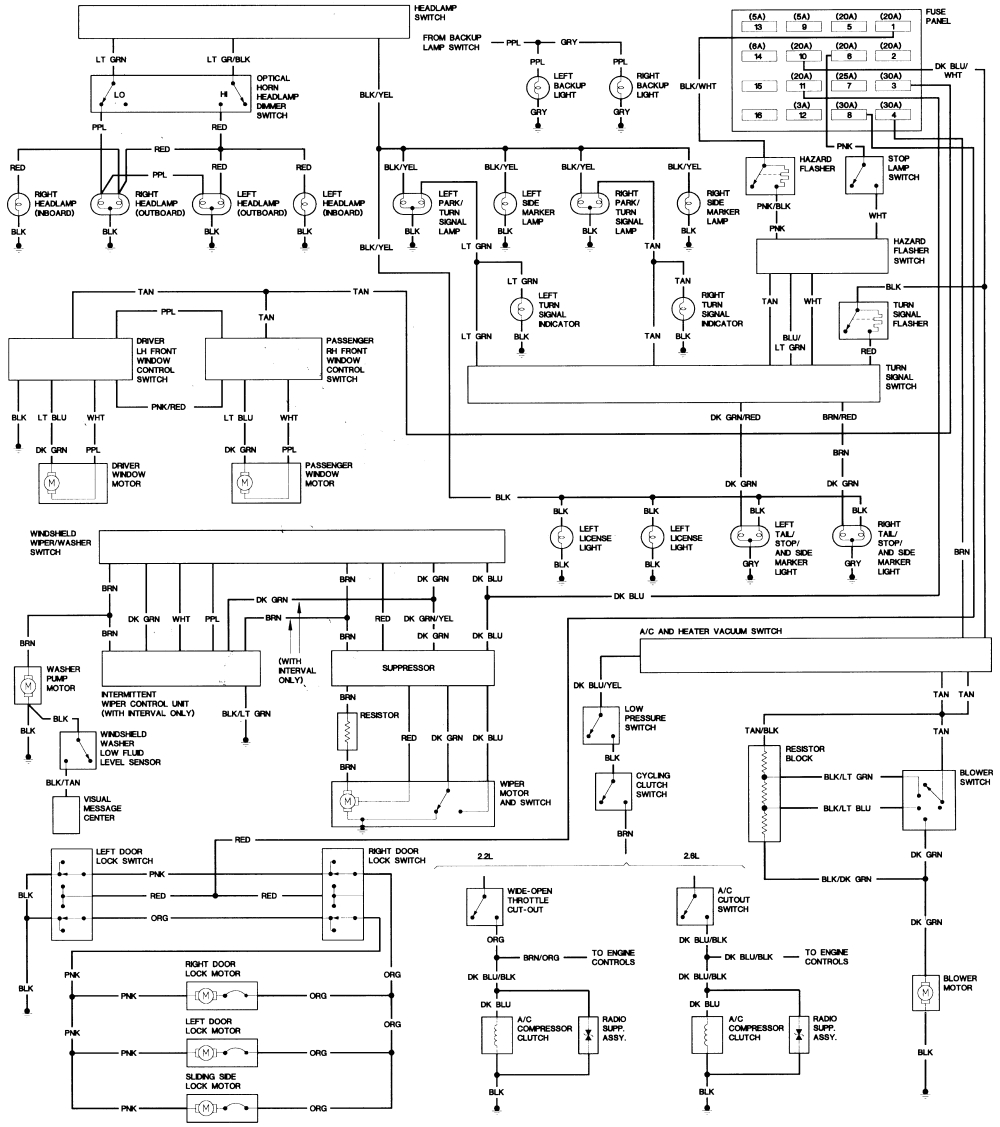 1990 dodge ram van wiring diagram