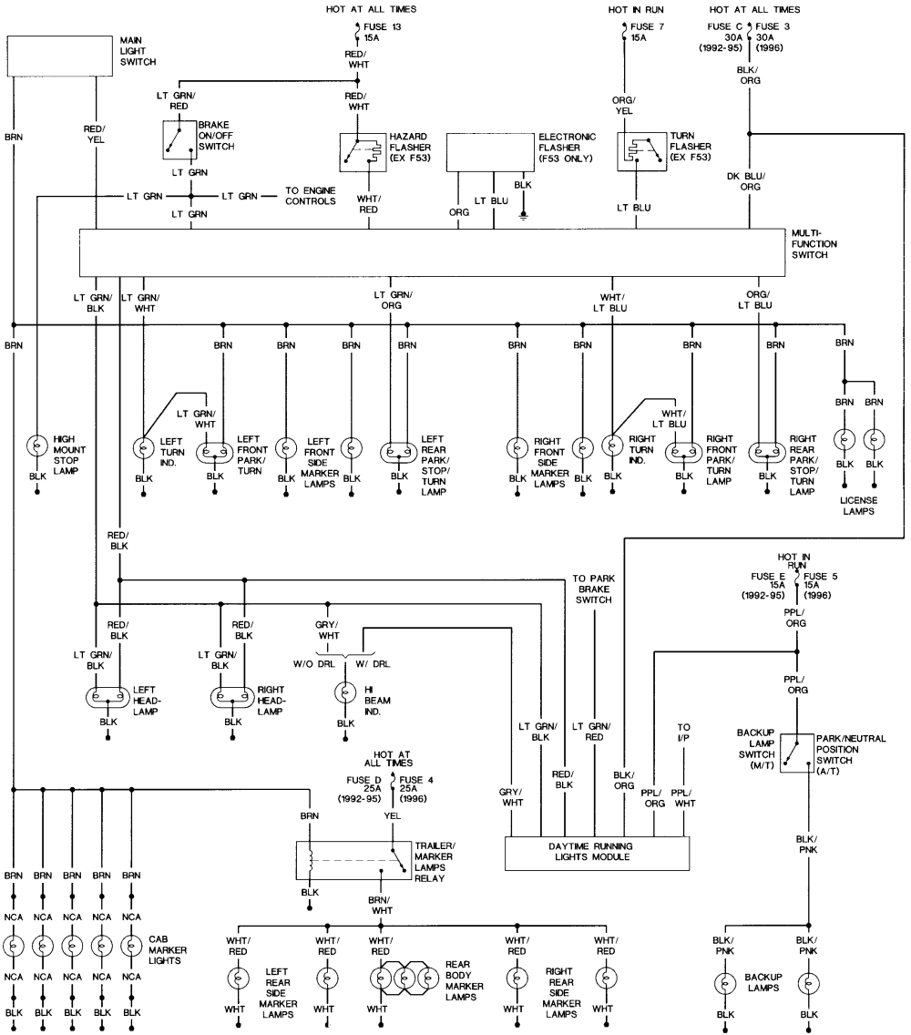 wiring for license plate lights ford truck enthusiasts forumspark lights wiring diagram 2008 f150 17