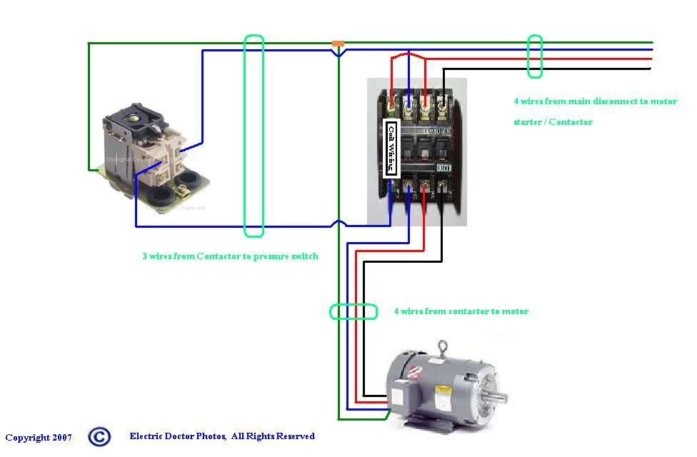 3 Phase Air Compressor Wiring Diagram Compressor Contactor Wiring Blog Wiring Diagram