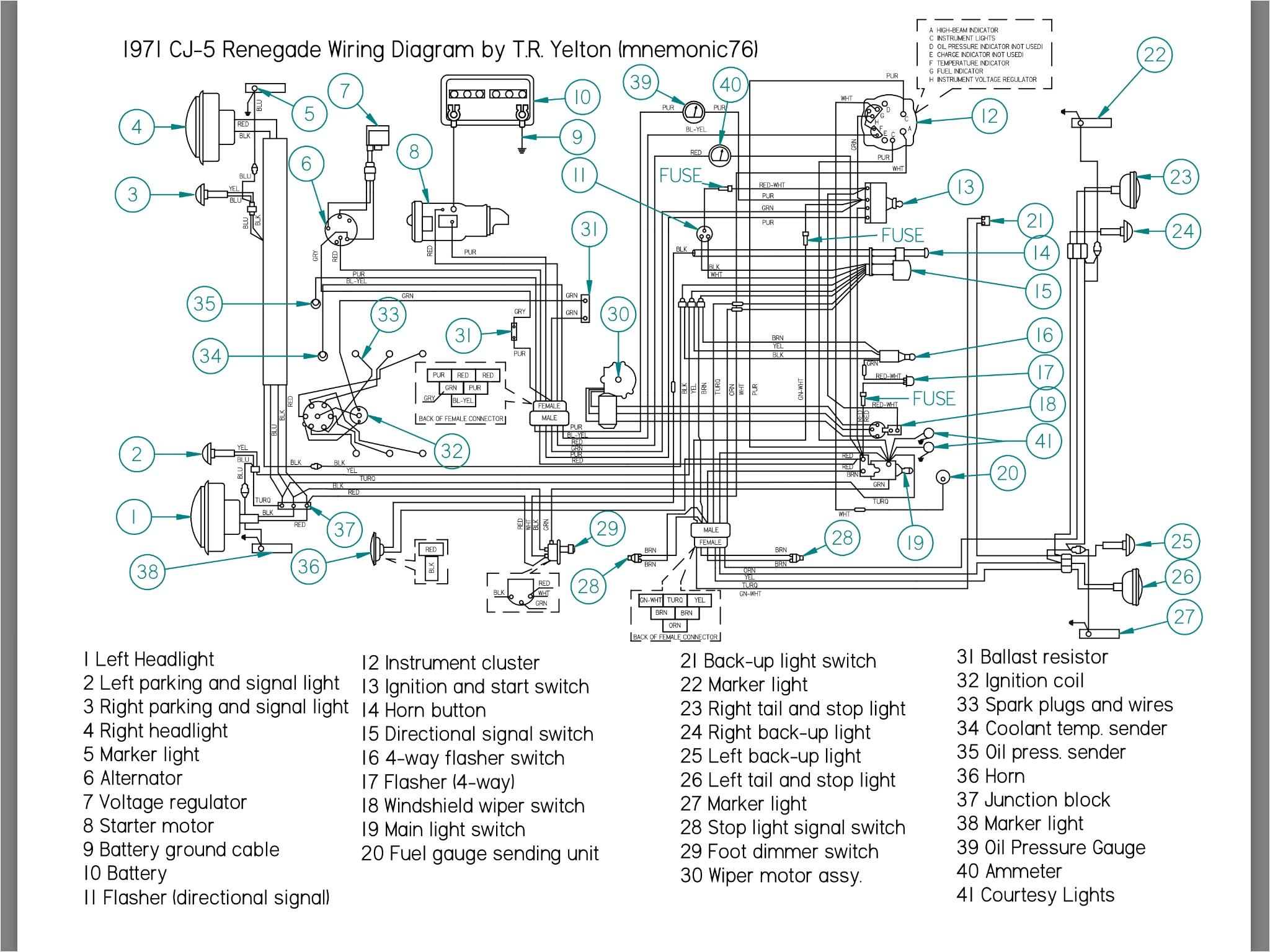 jeep cj5 wiring diagram