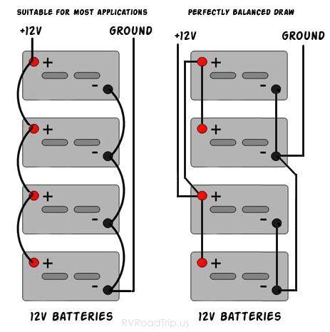 wiring 12 volt batteries in parallel wiring diagram page 12 volt 4 battery wiring diagram