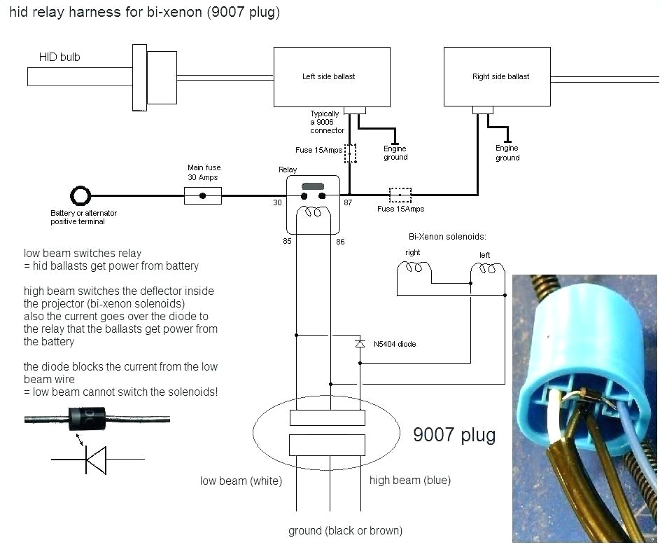 9007 Hid Wiring Diagram Furthermore Headlight Wiring Harness Moreover 9007 Headlight Wiring