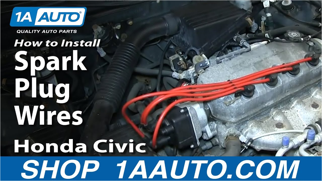 how to replace spark plug wires 92 00 honda civic youtube 2000 honda civic distributor cap wiring