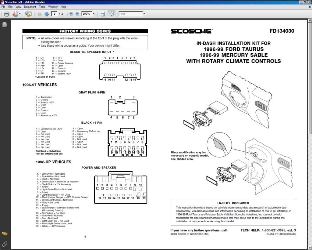 99 ford taurus stereo wiring wiring diagram blog 99 ford taurus radio wiring diagram