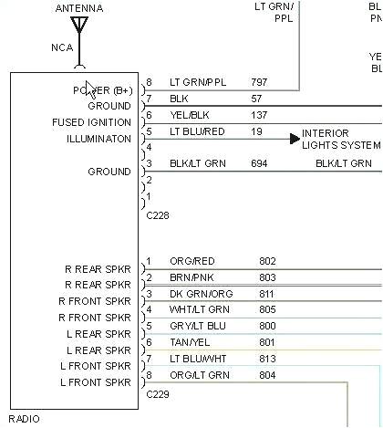 99 ford taurus radio wiring diagram wiring diagram centre 99 ford f 150 radio wiring harness