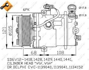 image is loading vauxhall astra g 2 0d air con compressor