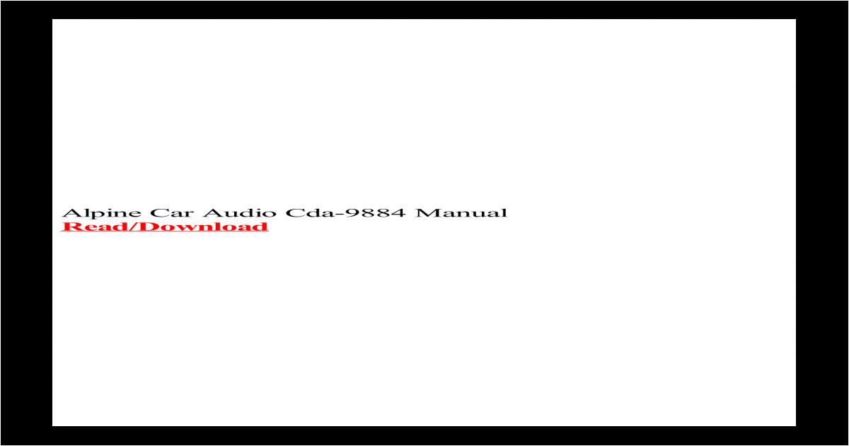Alpine Cda 9857 Wiring Diagram Alpine Car Audio Cda 9884 Manual Receiver Adapter for Bose sounddock