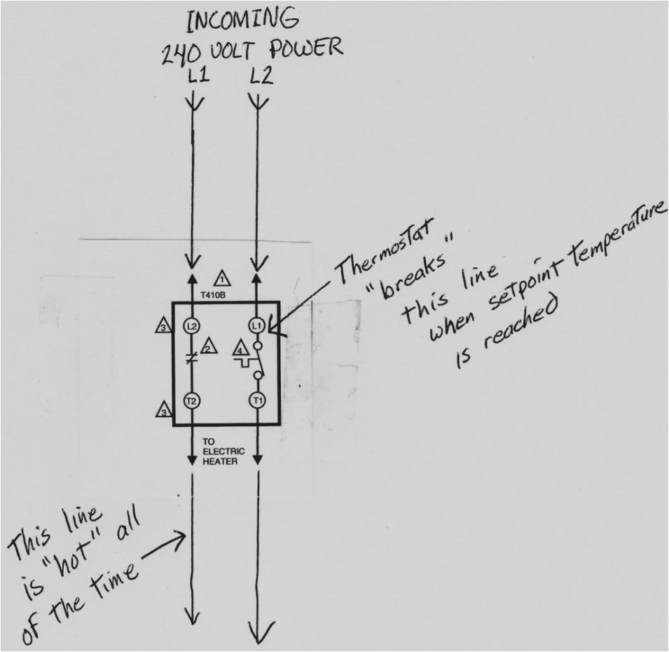 line voltage thermostat wiring diagram