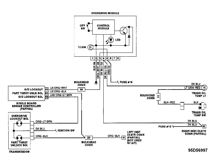 just installed used auto transmission with od in 1990 dodge d150 a500 transmission diagram