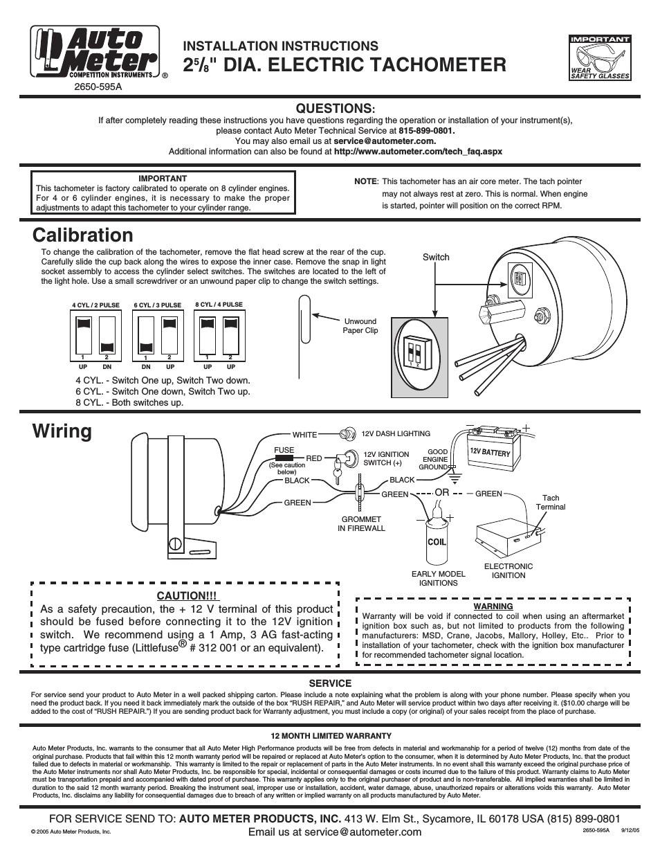 autometer tachometer wiring diagram wiring diagram reviewauto gauge tach wiring wiring diagram expert autometer 5 inch
