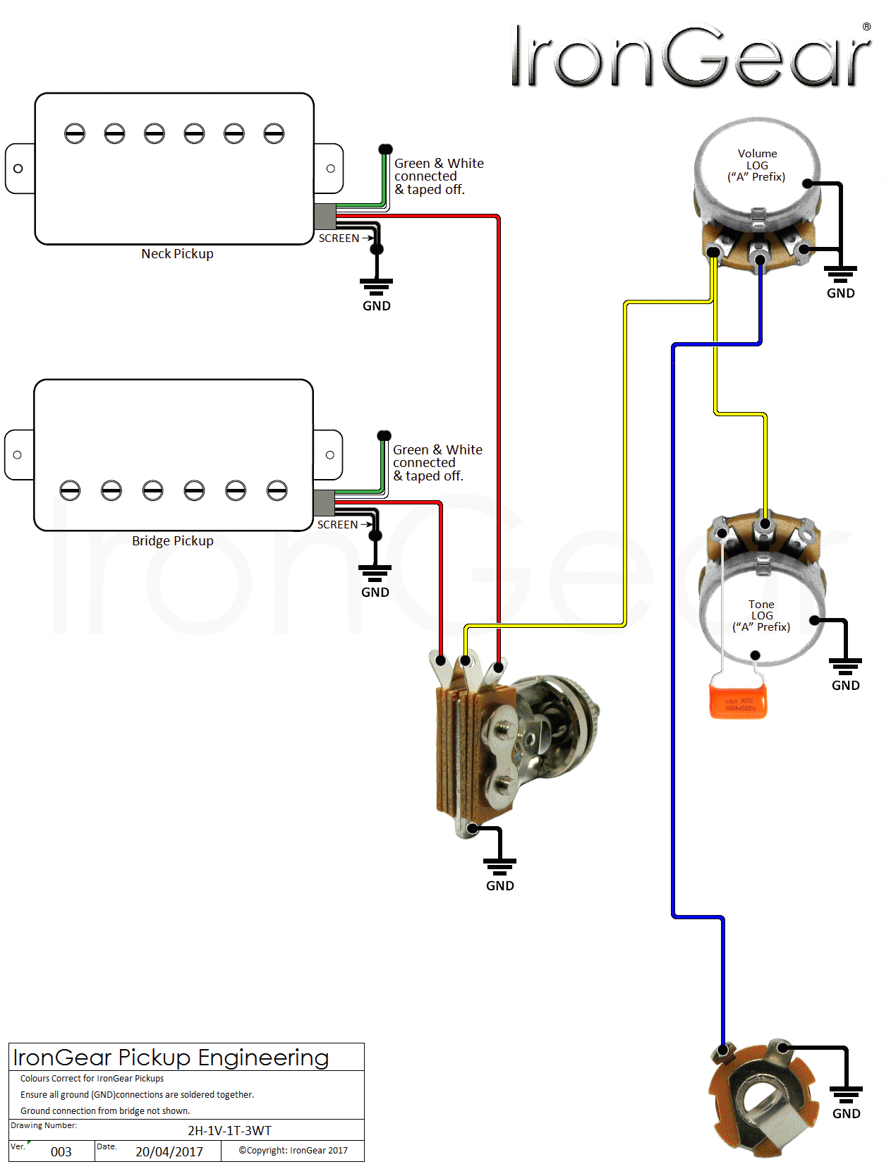 wiring diagram teisco guitar valid 2 humbucker within gif