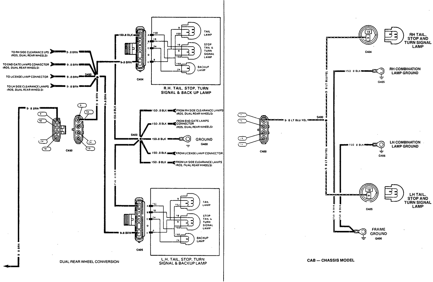trailer light wiring chucks chevy truck pages wiring diagram page 1995 gmc tail light wiring color