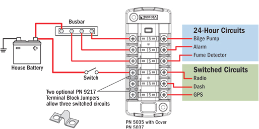independent sourced circuit st blade fuse block blue sea systems blue sea fuse block wiring diagram
