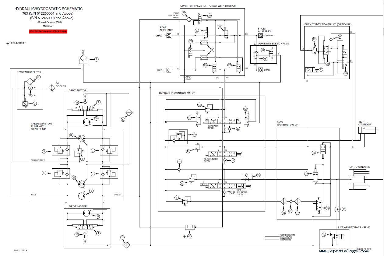 bobcat 763 763 high flow loaders g series service manual pdf for bobcat 763 wiring schematic png