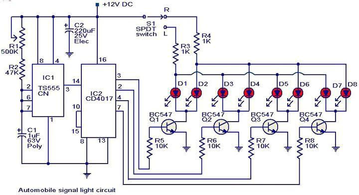 automobile turn signal light circuit diagram