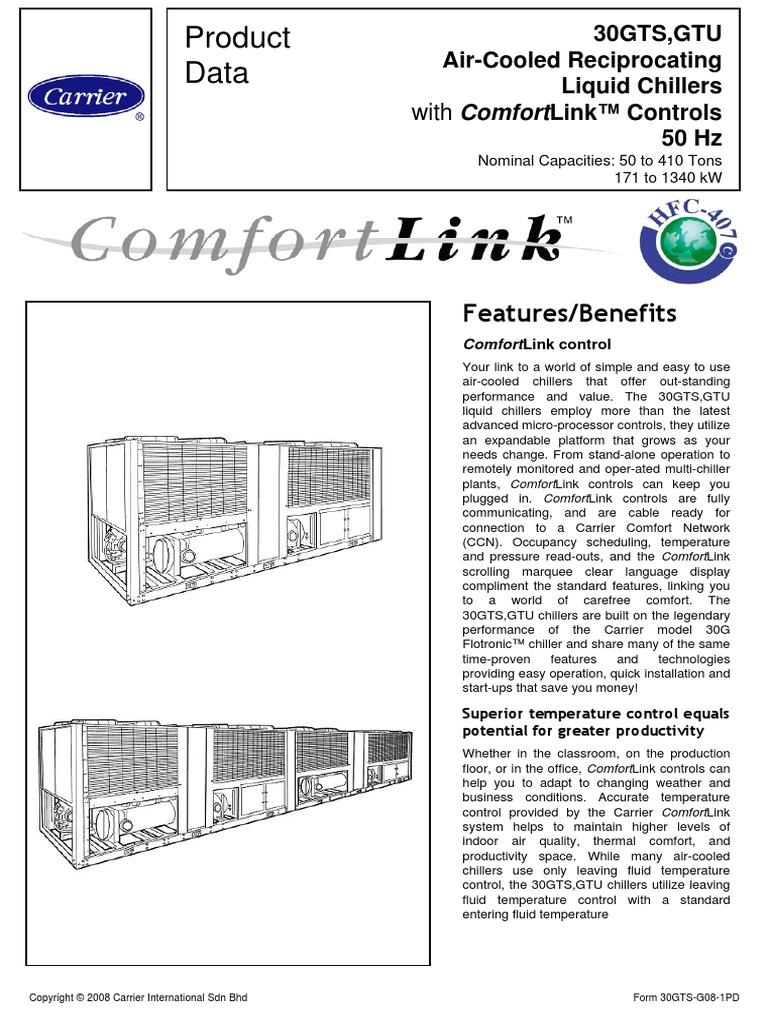 air cooled reciprocating 30gt liquid chiller carrier mechanical fan heat exchanger