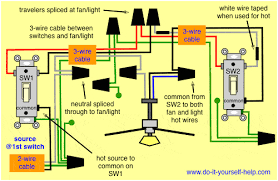 image result for how to wire a 3 way switch ceiling fan with light diagram