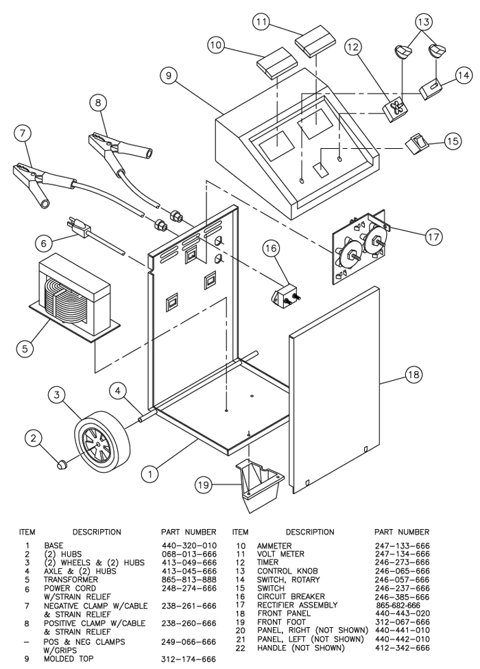Century Battery Charger Wiring Diagram 141 273 Century 87511 50 25 2 220 Amp Battery Charger W Test