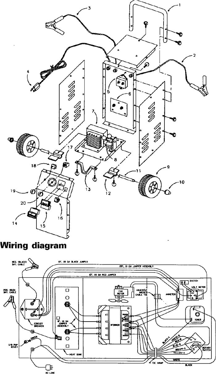 Century Battery Charger Wiring Diagram 71450 Sears 50 15 2 225 125 Amp Manual Battery Charger