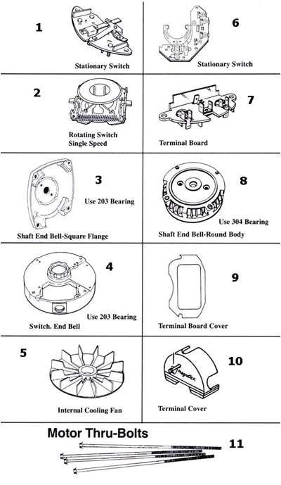 Century Electric Motors Wiring Diagram Magnetek Century Magnetek Century Motor Parts Replacement Part
