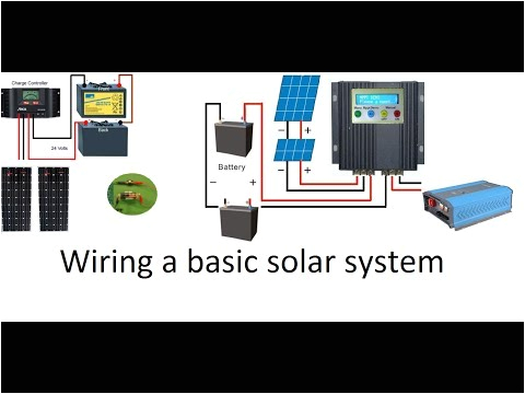 how to wire a 12 volt or a 24 volt solar system with a pwm or an mppt solar charge controller youtube