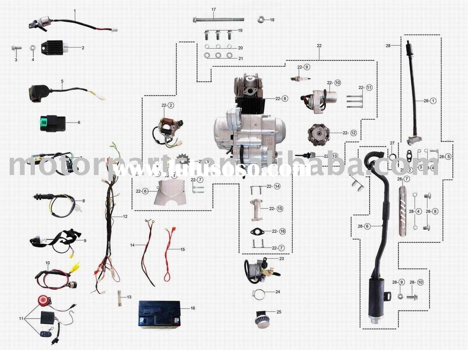 quad wiring diagram cc chinese bike images and 110cc atv for to 110cc within 110cc atv wiring diagram jpg