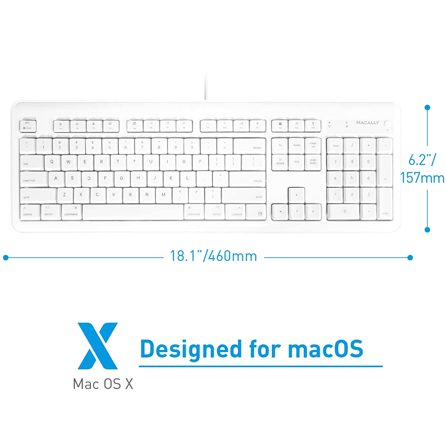 Computer Keyboard Wiring Diagram Macally Full Size Usb Wired Computer Keyboard with Built In 2 Port Usb Hub Perfect for Your Mouse 16 Apple Shortcut Keys for Mac Os Apple Imac