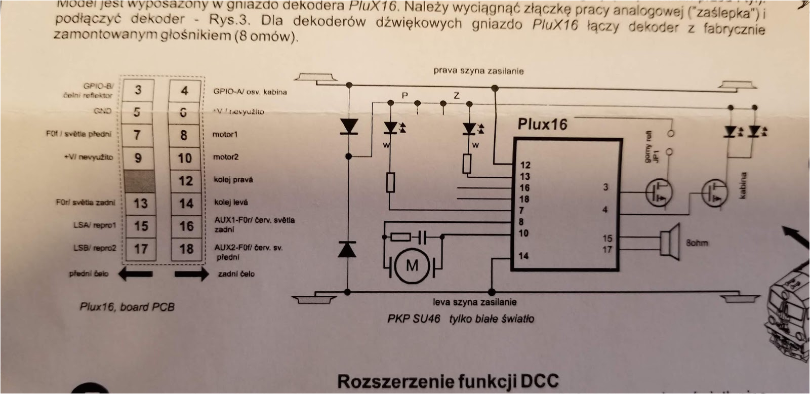 the diagram above shows that speaker should be connected to pins 15 and 17 of course the none of the pads on the main circuit board are labeled