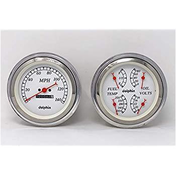 dolphin gauges 1947 1948 1949 1950 1951 1952 1953 chevy truck 5 quad style gauge dash panel insert set white