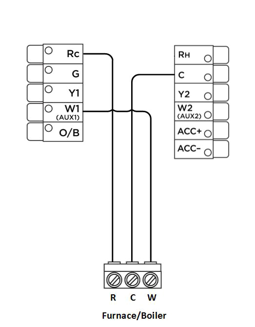 Ecobee3 Wiring Diagram Two Wire thermostat Wiring Diagram 1 Wiring Diagram source