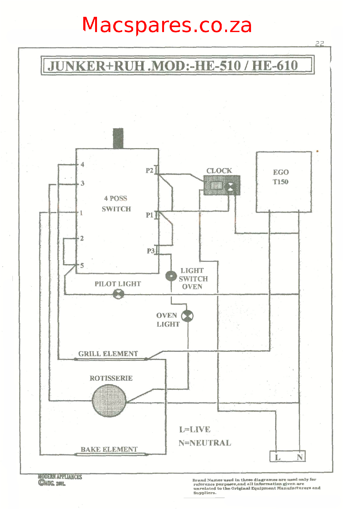 Ego T Wiring Diagram Wiring Diagrams Stoves Switches and thermostats Macspares