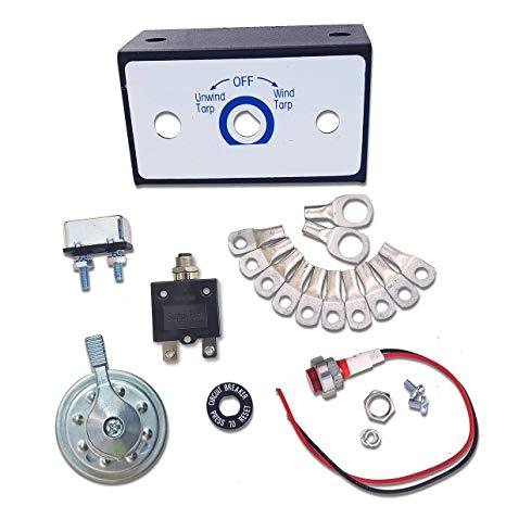 amazon com carolina tarps electric tarp switch kit for dump truck tarp systems rotary style 50 amp with circuit breaker automotive