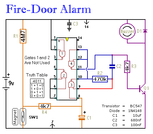 simple fire door alarm circuit emergency exit wiring diagram get free image about wiring diagram