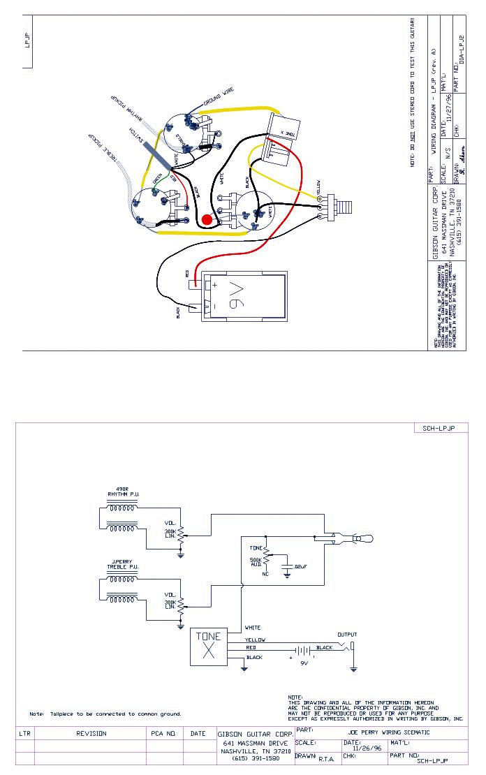 epiphone casino wiring diagram schematicsgibson joe perry les paul signature 2 pick up