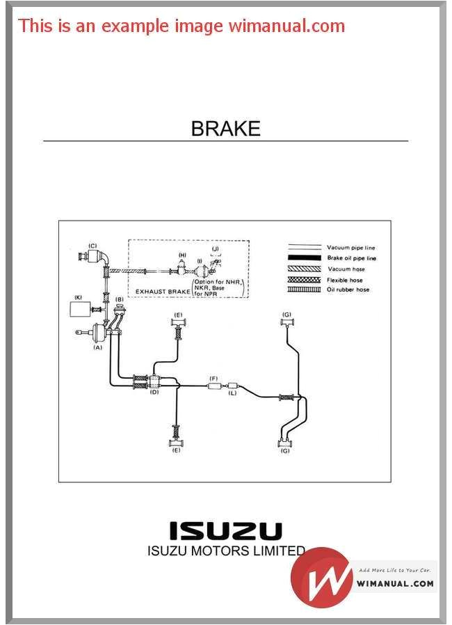 isuzu truck training brake system pdf download this manual has detailed illustrations as well as