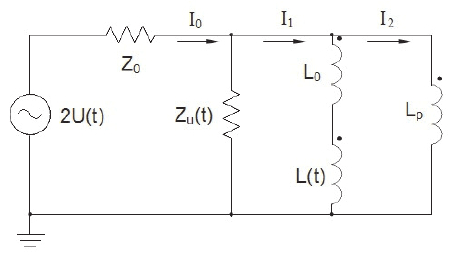 electro technical circuit of 0d model 2u t voltage generator