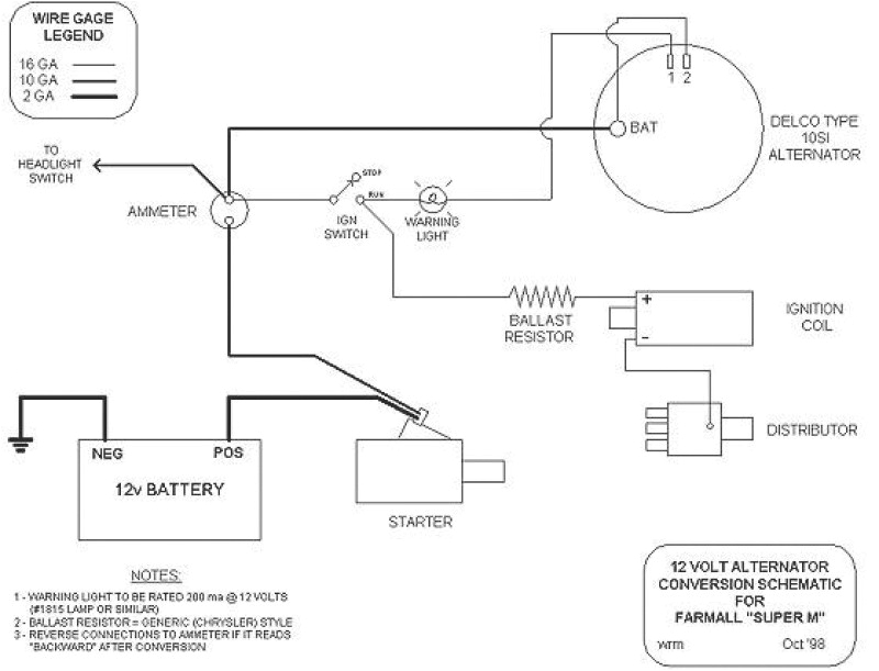 conversion farmall h wiring furthermore 6 volt positive ground 6 volt positive ground wiring diagram