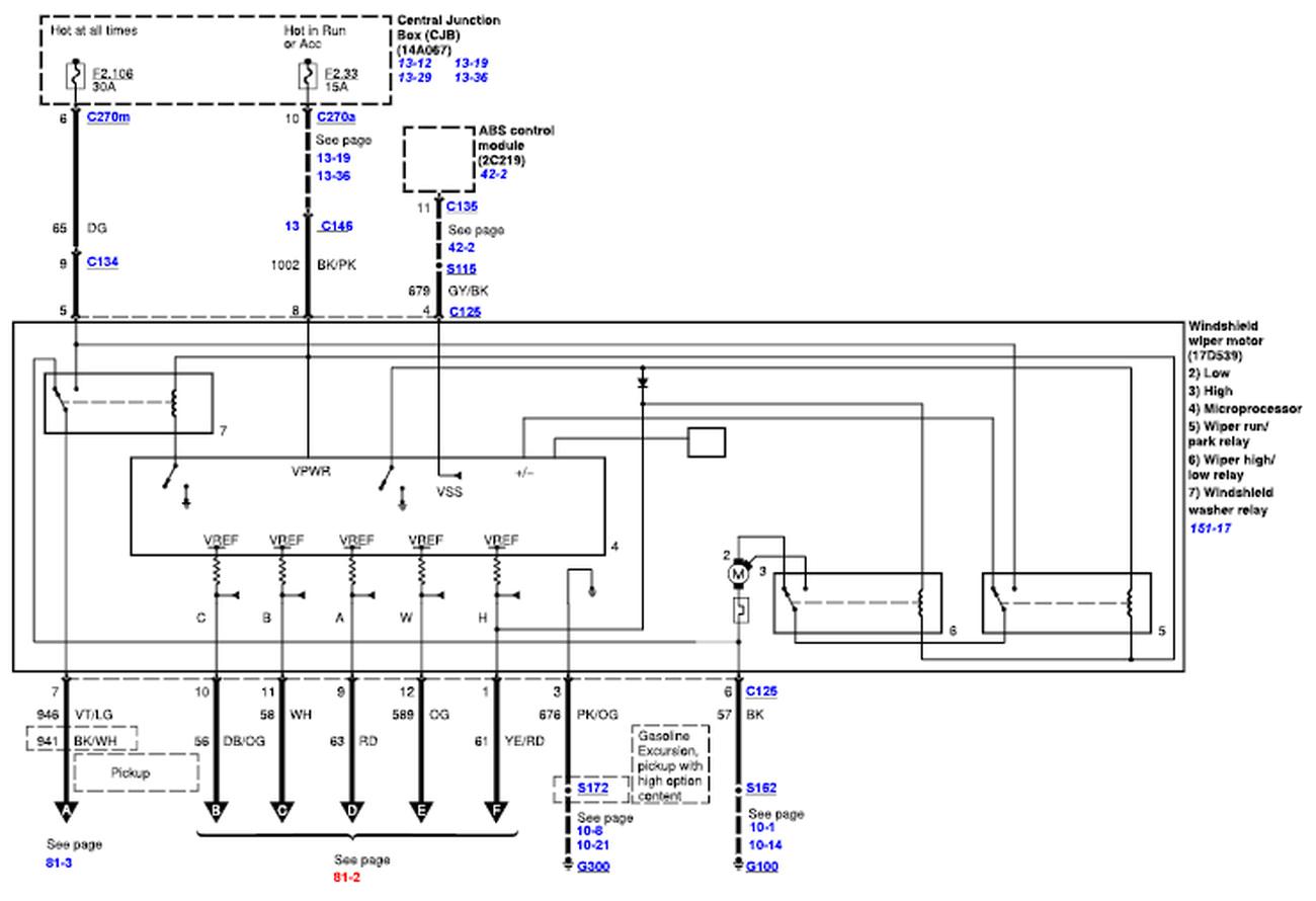 ford f 250 wiper motor wiring wiring diagram database 2000 ford f250 wiper motor wiring diagram 2000 f250 wiper motor wiring