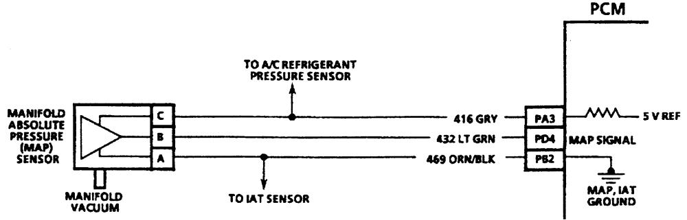 3 map sensor electrical circuit 2 3l engine