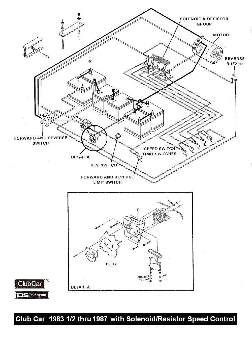 club car schematics 85 club car wiring diagram