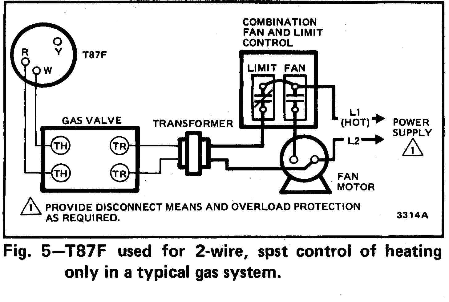 room thermostat wiring diagrams for hvac systems wiring diagram for thermostat to boiler honeywell t87f thermostat