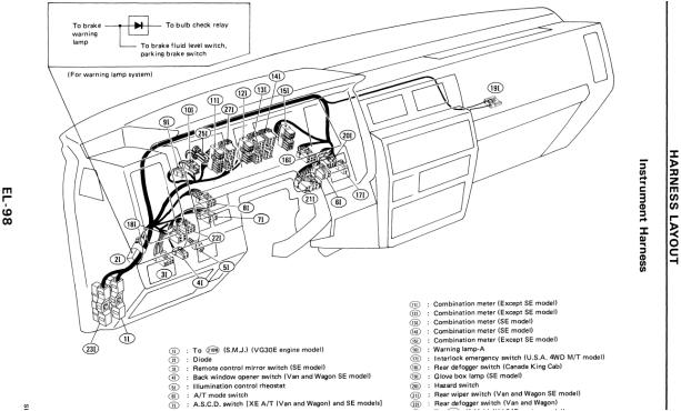 genuine check engine light wiring diagram nissan d21 service manual