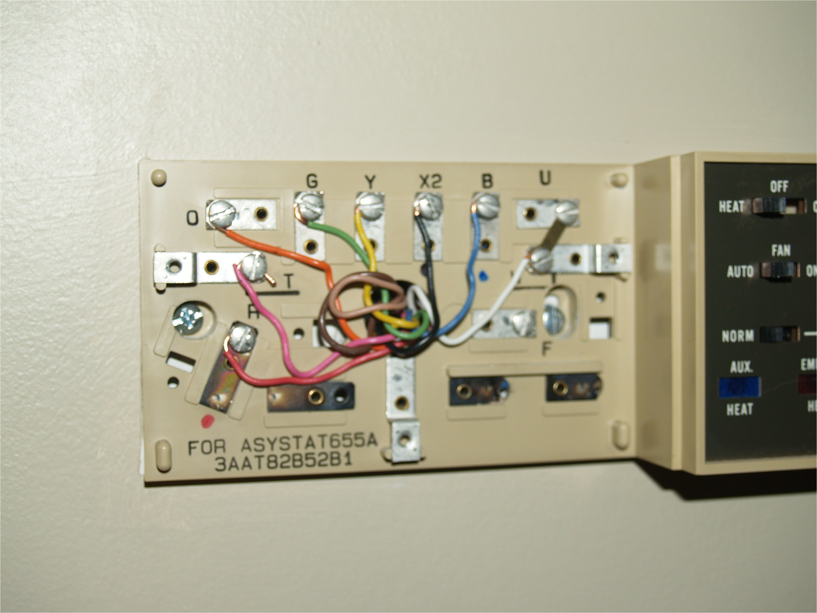 i have a honeywell thermostat asystat655a and i want to replace it with a new honeywell vision pro 8000 th8320u1008 i