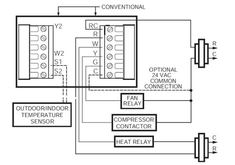 4 wire thermostat double changing 4 wire thermostat 2 wire 4 wire thermostat wiring diagram heat only jpg